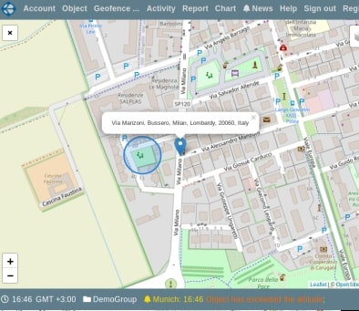 Display address on the map