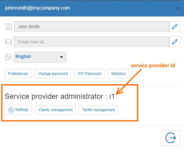 Get service provider id